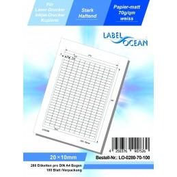 100 Feuille A4 Etiquettes Adhésives Autocollantes 20x10mm papier...