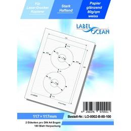 100 Feuille A4 Etiquettes Adhésives Autocollantes 117mm papier...