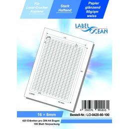 100 Feuille A4 Etiquettes Adhésives Autocollantes 16x8mm papier...