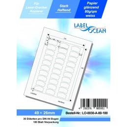 100 Feuille A4 Etiquettes Adhésives Autocollantes 49x26mm papier...