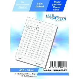 100 Feuille A4 Etiquettes Adhésives Autocollantes 48.5x18mm papier...