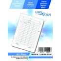 100 Feuille A4 Etiquettes Adhésives Autocollantes 45x20mm papier...