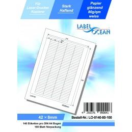 100 Feuille A4 Etiquettes Adhésives Autocollantes 42x8mm papier...