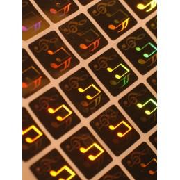 1000 Hologramme Notes de Musique Standard
