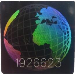 1000 Hologramme Le Monde Standard Avec Numéros de Série