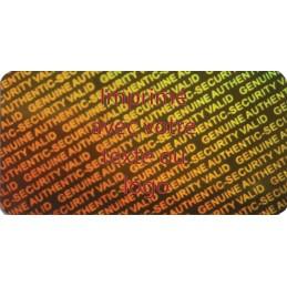 1000 Hologramme Standard Original Avec Votre Text Ou Logo Rouge Foncé