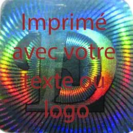 1000 Hologramme Standard E-D Avec Votre Text Ou Logo Rouge Foncé