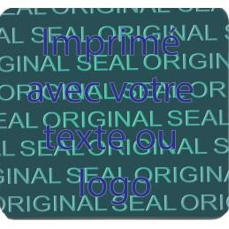 1000 Hologramme Standard Sceau Original Avec Votre Text Ou Logo Bleu