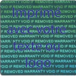 1000 Hologramme Standard Annulation de la Garantie si Supprimée...