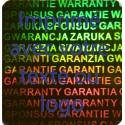 1000 Hologramme Standard Garantie Avec Votre Text Ou Logo Bleu