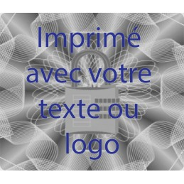 1000 Hologramme Standard Serrure Avec Votre Text Ou Logo Bleu
