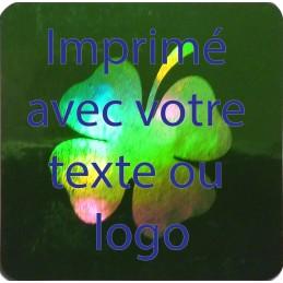 1000 Hologramme Standard Trèfle Avec Votre Text Ou Logo Bleu