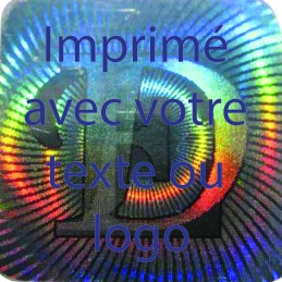 1000 Hologramme Standard E-D Avec Votre Text Ou Logo Bleu
