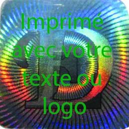 1000 Hologramme Standard E-D Avec Votre Text Ou Logo Vert Clair
