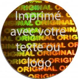 1000 Hologramme Standard Original Avec Votre Text Ou Logo Argentée
