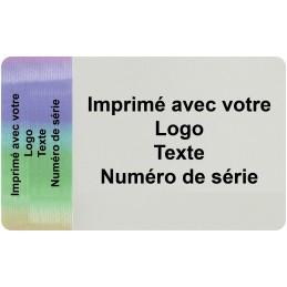 1000 Etiquettes Format 60 x 35 mm Hologramme Adhésives Imprimé Avec...