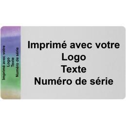1000 Etiquettes Format 80 x 40 mm Hologramme Adhésives Imprimé Avec...