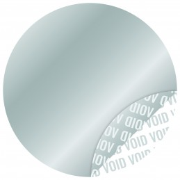 1000 Etiquettes Adhésives Argentée Void Sans Text Format 30 mm