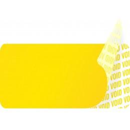 1000 Etiquettes Adhésives Jaune Void Sans Text Format 20 x 10 mm