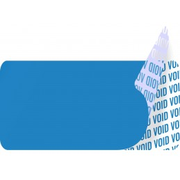 1000 Etiquettes Adhésives Bleu Void Sans Text Format 20 x 10 mm