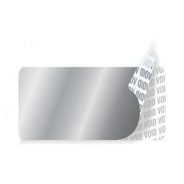 1000 Etiquettes Adhésives Argentée Void Sans Text Format 20 x 10 mm