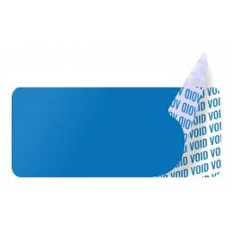 1000 Etiquettes Adhésives Bleu Void Sans Text Format 35 x 15 mm