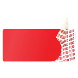 1000 Etiquettes Adhésives Rouge Void Sans Text Format 45 x 20 mm
