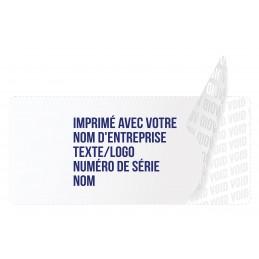 1000 Etiquettes Adhésives Blanc Void Avec Text Bleu Format 45 x 20 mm