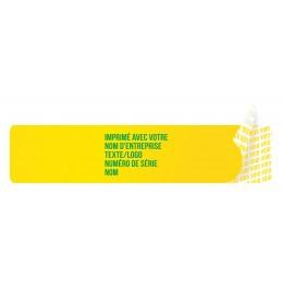 1000 Etiquettes Adhésives Jaune Void Avec Text Vert Format 45 x 10 mm