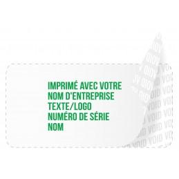 1000 Etiquettes Adhésives Blanc Void Avec Text Vert Format 20 x 10 mm