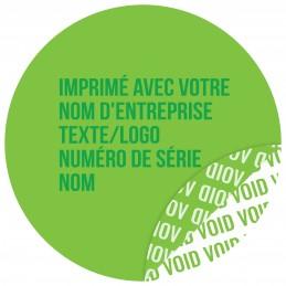 1000 Etiquettes Adhésives Vert Void Avec Text Vert Format 30 mm