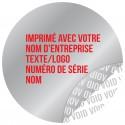 1000 Etiquettes Adhésives Argentée Void Avec Text Rouge Format 30 mm