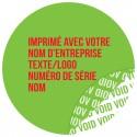 1000 Etiquettes Adhésives Vert Void Avec Text Rouge Format 30 mm