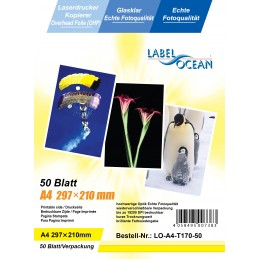 50 Feuilles A4 Film Transparents Rétroprojection OHP Compatible Laser