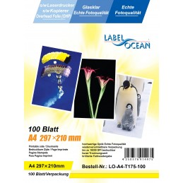 100 Feuilles A4 Film Transparents Rétroprojection OHP Compatible Laser