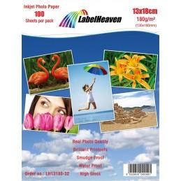 100 Feuilles Papier Photo 13x18 cm (130x180mm) Premium Haute...