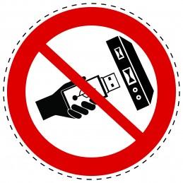 Panneau Autocollant D'Interdiction - Ne Pas Enleve USB