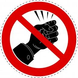 Panneau Autocollant D'Interdiction - Ne Pas Frapper