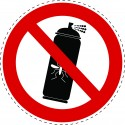 Panneau Autocollant D'Interdiction - Organique - Pas de...