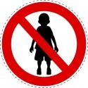 Panneau Autocollant D'Interdiction - Pas D'Enfants Autorisés