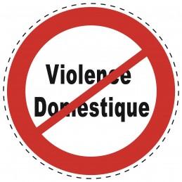 Panneau Autocollant D'Interdiction - Sans Violence Domestique