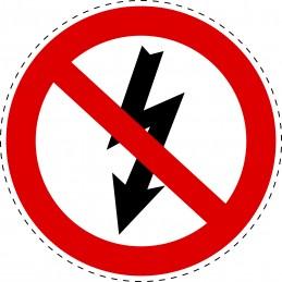 Panneau Autocollant D'Interdiction - Aucun Signe de Danger Haute...