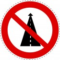 Panneau Autocollant D'Interdiction - Interdit Tout Droit