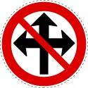 Panneau Autocollant D'Interdiction - Droite, Gauche et Avant Non...