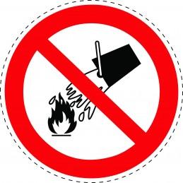 Panneau Autocollant D'Interdiction - Ne Pas Éteindre Avec de L'Eau
