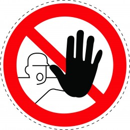 Panneau Autocollant D'Interdiction - Entrée Interdite Aux Personnes...