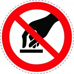 Panneau Autocollant D'Interdiction - Ne Pas Toucher