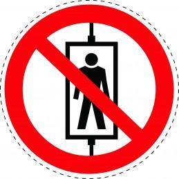 Panneau Autocollant D'Interdiction -  Ne Pas Utiliser Cet Ascenseur...