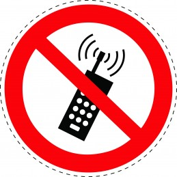 Panneau Autocollant D'Interdiction -  Interdiction D'Activer Des...