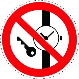 Panneau Autocollant D'Interdiction - Défense de Porter des Objets...